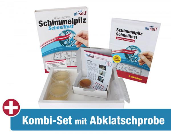 2-in-1 Schimmeltest Abklatsch (Kombi)